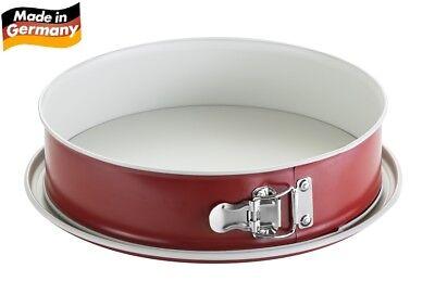 Fisko Keramik Springform #751028 Backform Kuchenform auslaufsicher 28cm rot
