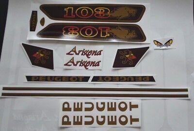 Kit autocollant stickers Peugeot 103 Arizona