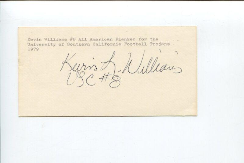 Kevin Williams USC Trojans 1978 National Champion Team Rare Signed Autograph