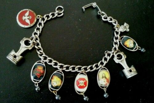 Christianity Religious Come Holy Ghost Enlighten Me Charm Bracelet  (9 Charms)