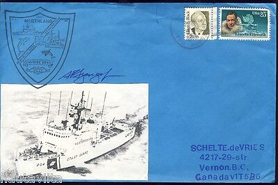 USCG Cutter Northland WMEC 904 Portsmouth Virginia Postal Envelope Signed By CO