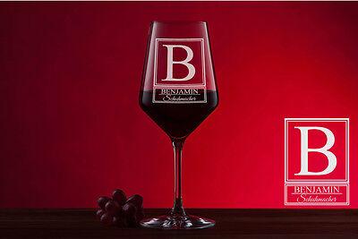 Weinglas mit Gratis Gravur Rotweinglas personalisiert mit Namen graviert RW6