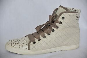 LANVIN-Womens-Quilted-LEATHER-WATERSNAKE-Cap-Toe-High-Top-Sneaker-Cream-11-41
