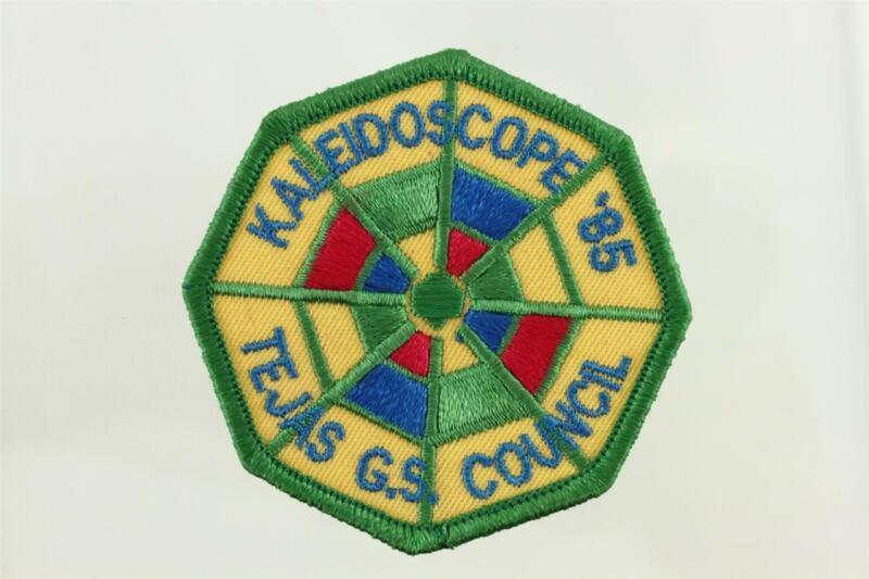 "Vintage GSA Scouting 1985 Kaleidoscope 1985 Tejas Girl Scout Council Patch 3"""
