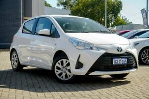 2018 Toyota Yaris NCP130R Ascent White 4 Speed Automatic Hatchback Morley Bayswater Area Preview
