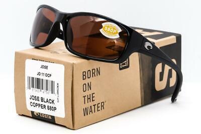 NEW COSTA DEL MAR JOSE SUNGLASSES Black frame / Copper 580P Polarized (Costa Frames)