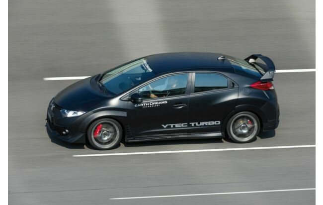 Honda Civic Type R auf der Teststrecke in Tochigi, Japan