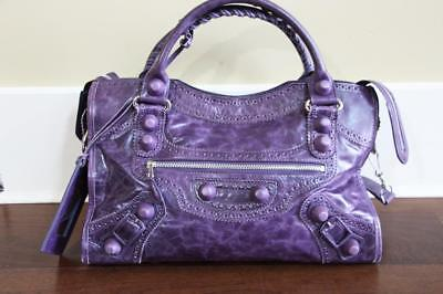 AUTHENTIC Balenciaga Purple Contour Stitch Limited Motorcycle Bag $2500 RARE, used for sale  Canada
