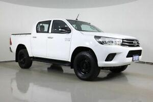 2015 Toyota Hilux GUN126R SR (4x4) White 6 Speed Automatic Dual Cab Utility