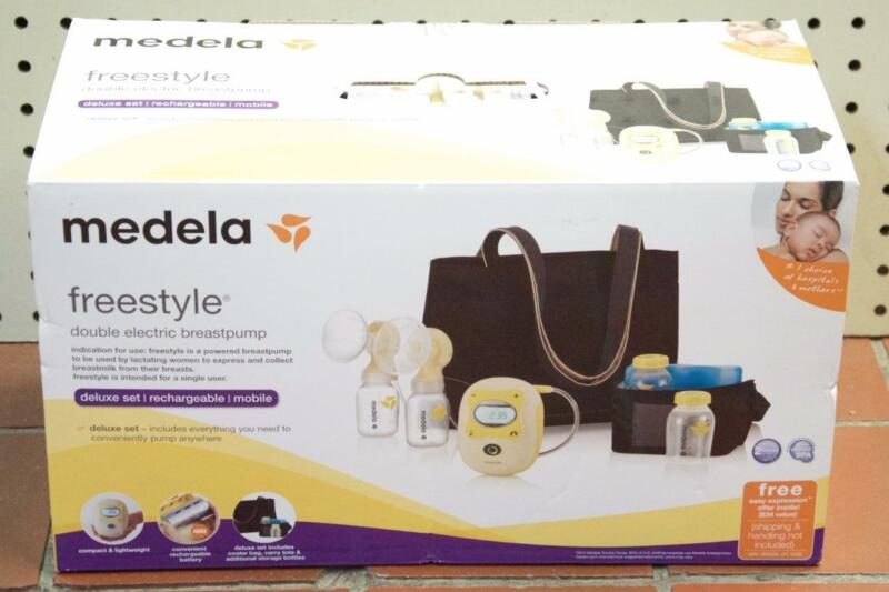 NEW - Medela 67060 Freestyle Double Electric Rechargeable Breastpump Deluxe Set