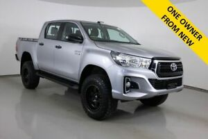 2018 Toyota Hilux GUN126R MY19 SR (4x4) Grey 6 Speed Automatic Double Cab Pick Up