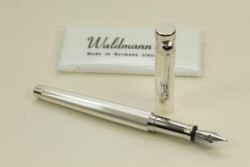 Waldmann Tango Korn-Guilloche 925 Sterling Silver Fountain Pen New