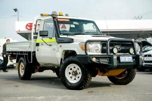 2014 Toyota Landcruiser VDJ79R MY12 Update Workmate (4x4) French Vanilla 5 Speed Manual Cab Chassis
