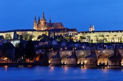 PRAGUE CZECH REPUBLIC SKYLINE GLOSSY POSTER PICTURE PHOTO PRINT bridge view 3732