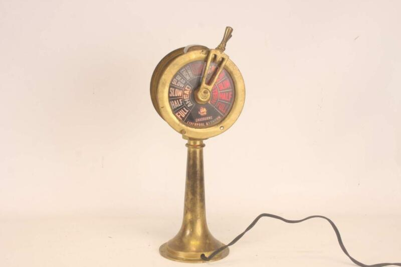 "Chadburns Liverpool & London Brass 14"" Double Face Ships Telegraph Lamp"