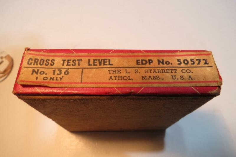Starrett Cross Test Level No. 136 with Box