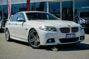 2015 BMW 5 Series F10 LCI 520i Steptronic M Sport White 8 Speed Sports Automatic Sedan