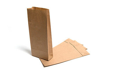 10 X Brown Kraft Block Bottom Paper Bagspartyfoodweddinghensweet Bags