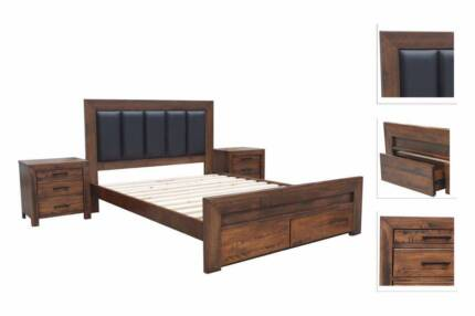 Brand New 】PU leather bed frame and spring mattress from $120 ...