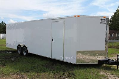 New 2021 8.5 X 28 8.5x28 V Nose Enclosed Race Cargo Toy Car Hauler Trailer