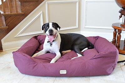 Armarkat XL Dog Pet Bed w/ Heavy Duty Canvas Waterproof Skid-Free Burgundy 49