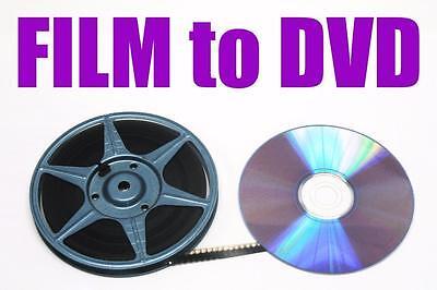 "REGULAR 8mm, SUPER 8mm FILM TO DVD OR DIGITAL FILES TRANSFER - ""B"" OPTION"