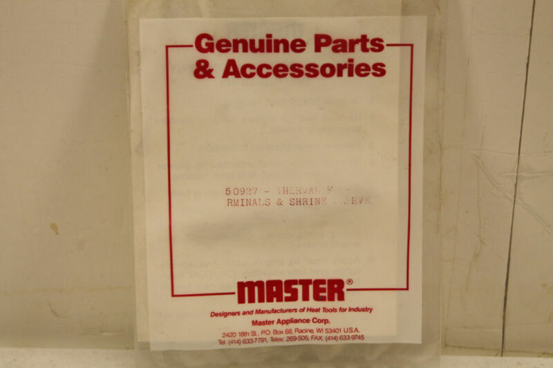 Master Appliance 50927 Thermal Fuse Terminals Factory Sealed Bag