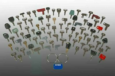 100 Heavy Equipment Keys Set Cat Case Deere Kubota Construction Ignition Key Set