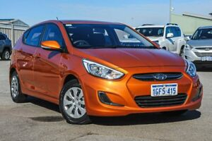 2016 Hyundai Accent RB4 MY17 Active Orange 6 Speed Constant Variable Hatchback