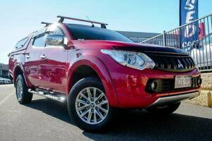 2016 Mitsubishi Triton MQ MY16 GLS Double Cab Red 6 Speed Manual Utility