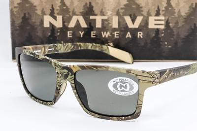 632be442af NEW NATIVE EYEWEAR FLATIRONS SUNGLASSES Realtree Camo Max   Polarized Grey  lens