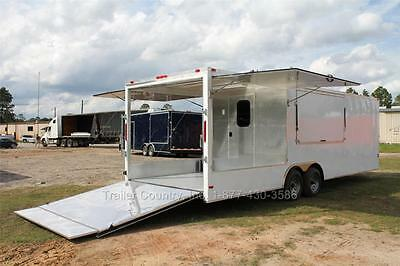 New 8.5x26 8.5 X 26 Enclosed Concession Food Vending Bbq Trailer 8 Porch Deck