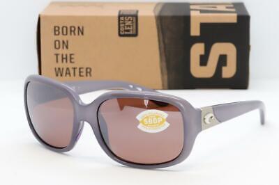 COSTA DEL MAR GANNET Sunglasses Shiny Sea Lavender  / Silver Mirror 580P Womens Lavender Womens Sunglasses