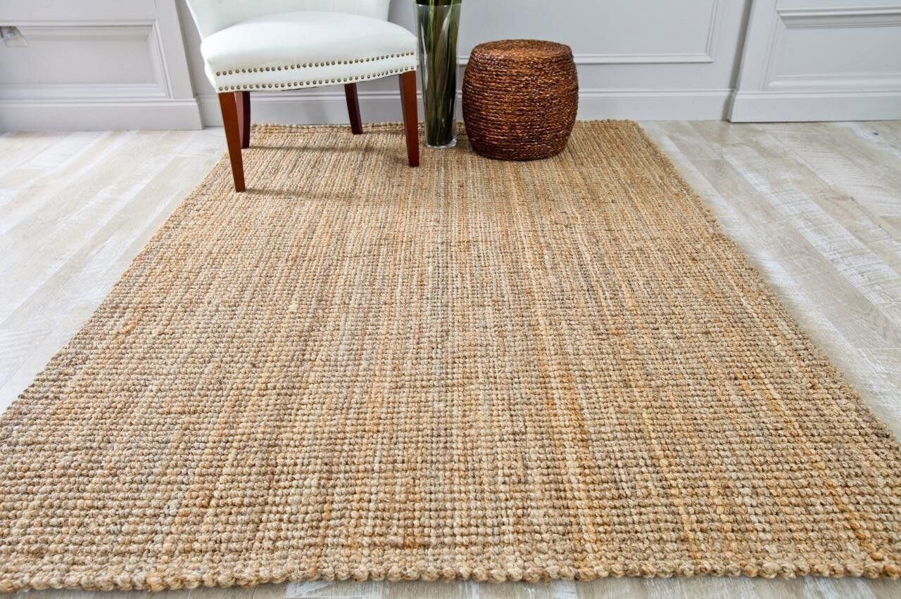 Rugs Area Jute Rug Carpet Large Braided Reversible New
