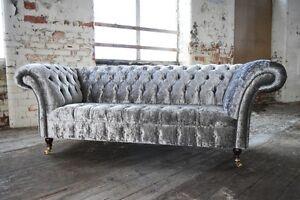 Velvet Chesterfield Sofas Armchairs Suites Ebay