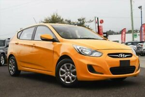 2013 Hyundai Accent RB2 Active Yellow 6 Speed Manual Hatchback