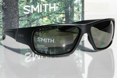 Neu Smith Discord Polarisiert Sonnenbrille Matt Schwarz / Grau-Grün Linse