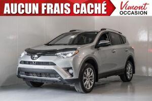 2017 Toyota RAV4 LIMITED+AWD+NAV+CUIR+TOIT+MAGS+FOGS+CAMERA ACCI