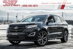 2016 Ford Edge Sport AWD MAGS SUEDE NAV CAMÉRA TOIT PANO A/C
