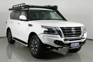 2020 Nissan Patrol Y62 Series 5 MY20 TI (4x4) Pearl White 7 Speed Automatic Wagon