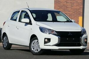 2020 Mitsubishi Mirage LB MY21 ES White 1 Speed Constant Variable Hatchback