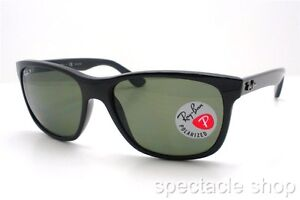 ray ban sunglasses italy  ray ban rb 4181 601/9a black polarized new 100% authentic made in italy