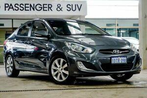 2011 Hyundai Accent RB Elite Grey 4 Speed Automatic Sedan