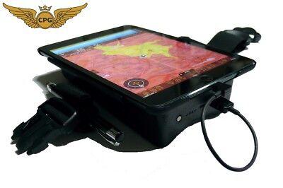 iPad Mini 4 - Control, aviation, flight Kneeboard with POWER BANK, Pen/Stylus