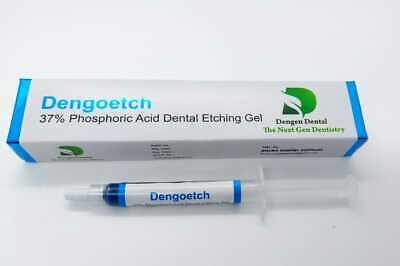 5pc Dengoetch Dental 37 Phosphoric Acid Etching Gel Etchant 3mlsyringe