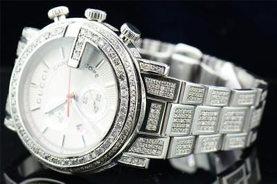 7b05d68a174 Diamond Gucci Watch Ya101339 Mens 16.50 CT Custom G Bezel Fully Iced Band