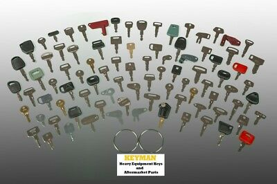 88 Heavy Equipment Keys Set - Construction Ignition Key Set Case Cat Deere More