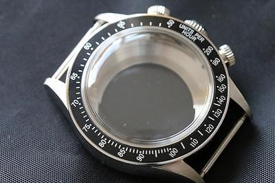 NEW Stainless steel watch case polished generic rlx newman & ETA cases bezel