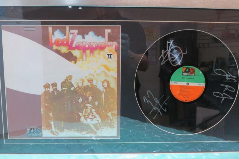 """LED ZEPPELIN """"II"""" 2 Vinyl Record Album signed with COA"""