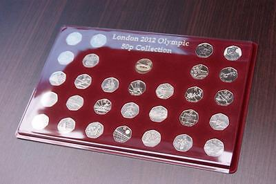 SCHULZ EXCLUSIVE 50P LONDON 2012 TRAY OLYMPIC COLLECTION CASE Coin Tray 50p MIEC